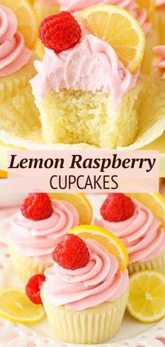 These Lemon Raspberry Cupcakes are moist, light and some of my favorite flavors for spring! An easy and beautiful cupcake recipe! Best Lemon Dessert Recipe, Easy Cupcake Recipes, Cupcake Flavors, Easy No Bake Desserts, Delicious Desserts, Lemon Cupcake Recipe Easy, Cupcake Recipes From Scratch, Cheesecake Desserts, Lemon Desserts