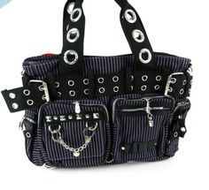 Voodoo Vixen Gothic Skull Punk Emo Rockbilly Steampunk Purse Purple Bag BG266 | eBay