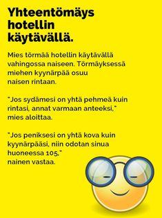 Vitsit: Yhteentörmäys hotellin käytävällä - Kohokohta.com Texts, Lol, Humor, Funny Things, Funny Stuff, Quotes, Movie Posters, Comics, Quotations