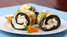 Perfekt als Beilage! Diese köstlichen Ofen-Röllchen mit Zucchini, Schinken und Käse machen Kartoffeln und Pasta spielend Konkurrenz.