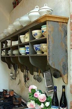 Like the thought of utensils hanging like this.  The more counter space the better!