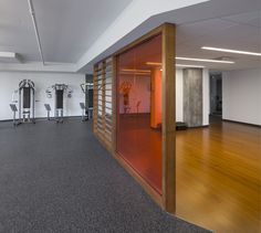 POINTE-NORD   Montreal   Architecture   Interior Design   Evolo 2   Residential   Fitness   Gym   Wood   Partition Interiores Design, Montreal, Divider, Garage Doors, Club, Decoration, Fitness, Outdoor Decor, Room