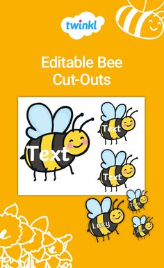Create a classroom bulletin board using this set of adorable and FREE Editable Bee Cut-Outs. Personalize with student names or goals for the school year! Garden Theme Classroom, Classroom Design, Classroom Themes, Classroom Organization, Head Start Classroom, First Grade Classroom, School Classroom, Bee Bulletin Boards, Elementary Bulletin Boards