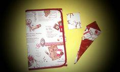 Conjunto costurero de viaje, libro de agujas y funda para las tijeras