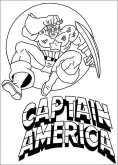 Captain America Coloring Pages Preschool Theme Superheroes