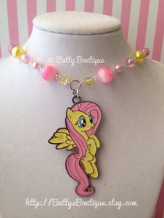 Fluttershy  My Little Pony Necklaces  MLP FiM  by BattyxBoutique, $24.99