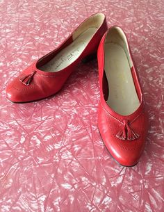vintage shoes ladies 80s ferragamo red leather by freshandswanky 3600
