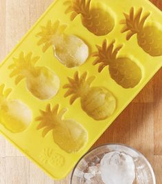Trying to drink more water for your resolution. These CUTE Pineapple Ice Cubes will help motivate you to drink more! Get the ice cube tray at Urban Outfitters. Pineapple Kitchen, Ice Tray, Ice Cube Trays, Kitchen Gadgets, Sweet Home, Cool Stuff, Party, Home Decor, Urban Outfitters