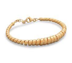 Women's Sterling Silver 14 Karat Gold Plated Graduated Spiral Design Bracelet #jewelry #Bangle
