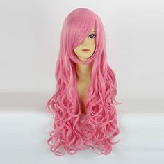 Cosplayvoice Fashion Pink Long 80CM Curly Lolita Lady Cosplay Wig -- Check this awesome product by going to the link at the image.