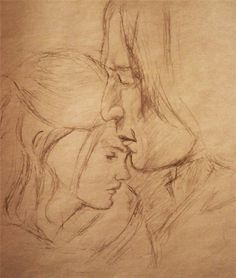 sketch Snape and Hermione_ by vincha on DeviantArt