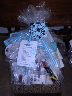 raffle baskets scrapbook basket