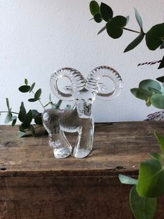Excited to share this item from my shop: Kosta Boda zoo series Bertil Vallien Stenbock goat ram Swedish glass flat back Kosta Boda, Midcentury Modern, Ramen, Sweden, Goats, 1970s, Glass Art, Etsy Shop, Vintage