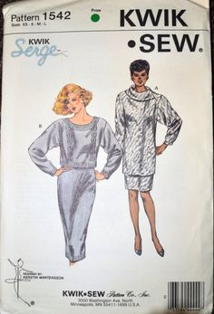 Sewing Pattern Kwik Sew 1542 Misses' Top and Skirt Size XS-L Bust 31-41.5  inches Uncut Complete by GoofingOffSewing on Etsy