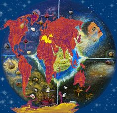 World Map And Barack Obama Stars  Augusta Stylianou