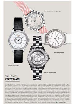TAILLE MINI, EFFET MAXI Louis Vuitton, Tambour Monogram Bijou. Piaget, Altiplano 24 mm. Chanel, J12 Chromatic 29 mm. Dior, Dior VIII Montaigne.