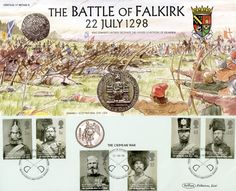 October Crimean War, The Battle of Falkirk, British First Day Cover William Wallace, Crimean War, First Day Covers, Battle, Stamps, Gallery Wall, Military, Events, Seals