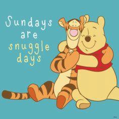 Sundays are snuggle days.