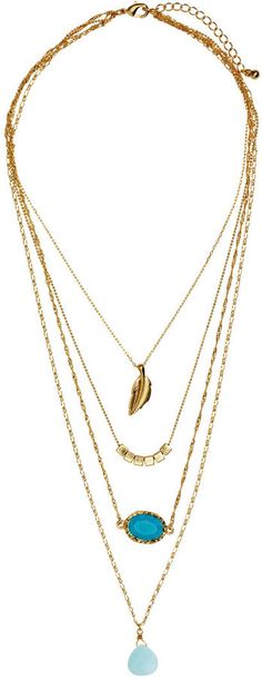 H&M - Multi-strand Necklace - Gold-colored - Ladies