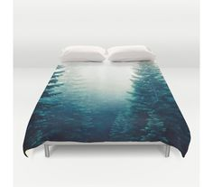 Duvet Cover Evergreen Trees Forest Woods Wilderness by StayWildCo