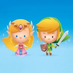 Legend of Zelda by Jerrod Maruyama Almost chibi Zelda and Link