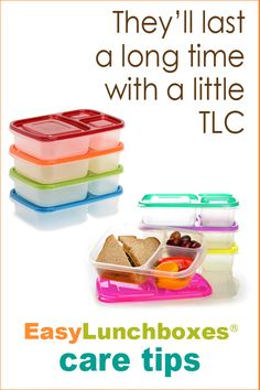 How to care for your EasyLunchboxes food containers.