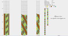 Wzory sznurów szydełkowo-koralikowych