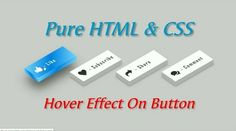 Create Buttons With Awesome Hover Effect In HTML & CSS
