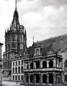 Bilderbuch Köln - Rathauslaube Germany And Prussia, Cologne Germany, Vintage Architecture, Krakow, Dom, Wwii, Poland, Louvre, History
