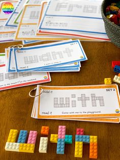 Teaching Sight Words with LEGO - practical ways to teach high frequency words plus fun printable sight word mats that encourage hands-on learning Spelling Activities, Sight Word Activities, Hands On Activities, Learning Activities, Stem Activities, Vocabulary Games, Word Games, Teaching Sight Words, Sight Word Practice