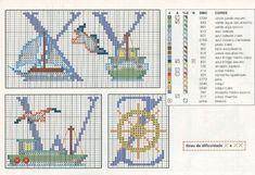 Schema Punto Croce Alfabeto Nautico 2