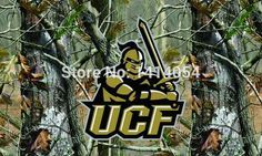 Central Florida Golden Knights real tree camo Flag150X90CM NCAA 3X5FT Banner 100D Polyester grommets custom009, free shipping
