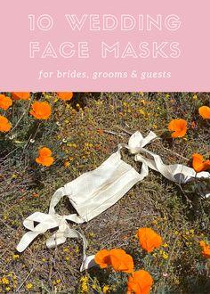 Upgrade your intimate wedding wardrobe with one of these fashionable face masks to wear to weddings during Coronavirus #facemask #bridalfacemask #coronaviruswedding Eclectic Wedding, Beautiful Bride, Face Masks, Groom, Wedding Day, Wedding Inspiration, Weddings, Bridal, Pi Day Wedding