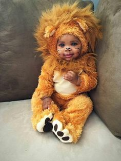 """"""" queenevea: """" heir-n-reign: """" heir-n-reign: """" Black babies are the cutest things on their planet! """" Lil Ian is the absolute cutest! """" the cutest thing! Cute Black Babies, Cute Babies, Baby Kids, Baby Boy, Baby Halloween Costumes For Boys, Baby Costumes, Baby Lion Costume, Halloween Sewing, Animal Costumes"""