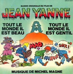 Vinyl Artwork / Jean Yanne et Michel Magne - Tout le monde il est beau, tout le monde il est gentil, 1972. Video Film, Graphic Prints, Artwork, Soundtrack, Beauty, World, Everything, Clutch Bags, Posters
