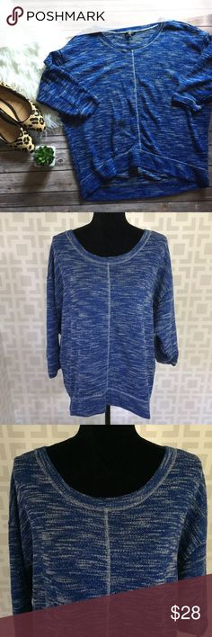 New ARRIVALS! Blue oversized sweater top L Like new! Sweaters