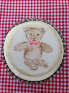 New Baby cupcake- Teddy. Designed, hand painted handmade by Stace x Baby Cupcake, Cupcake Cakes, Hand Painted Cakes, New Baby Products, Lady, Handmade, House, Design, Decor