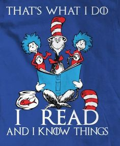 I read and I know things! Happy National Book Lovers Day: August 9th!