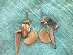 Beach Ready Jet Set Seashell Vintage Bohemian Dangle Earrings