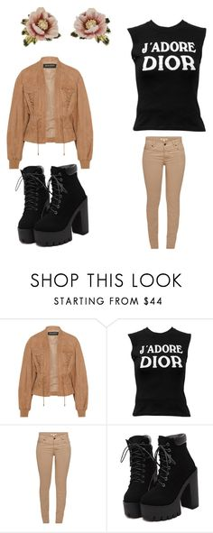 """""""4."""" by kellyflower23 ❤ liked on Polyvore featuring Balmain, Christian Dior, Barbour and Les Néréides"""
