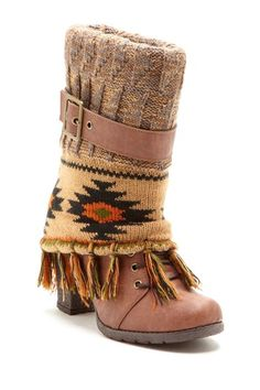Cassandra Fringe Spat Boot on HauteLook