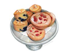 Pastry Shop Art // Food Illustration // Art for kitchen