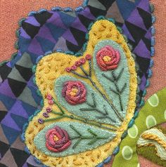 Marvelous Crewel Embroidery Long Short Soft Shading In Colors Ideas. Enchanting Crewel Embroidery Long Short Soft Shading In Colors Ideas. Wool Applique Patterns, Felt Applique, Embroidery Patterns, Crewel Embroidery, Embroidery Applique, Cross Stitch Embroidery, Embroidery Thread, Art Du Fil, Wool Quilts