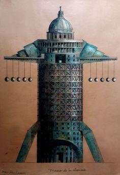 Museo de las atrocidades 2011. (Dibujo en tinta sobre papel de bolsa de cemento)A.L.Moure Strangis.
