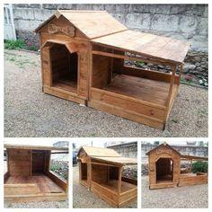 Pallet Dog House - Step by Step Plan   Pinterest   Pallet dog house ...