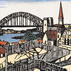 Margaret Preston - Sydney Bridge c1932 (detail) Art Gallery of New South Wales, purchased 1964