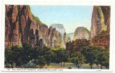 1910s Zion's Canyon National Park Utah