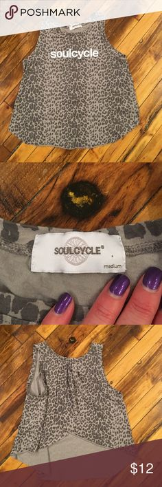 SoulCyle Leopard Tank W/Open Back Size Medium Soul Cyle Leopard Tank W/Open Back Size Medium. Excellent used condition! SoulCycle Tops
