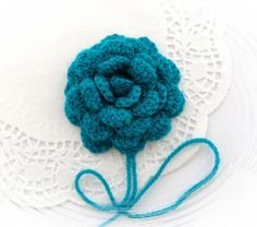 Crochet flower applique corsage brooch  http://www.etsy.com/shop/CraftsbySigita?ref=si_shop