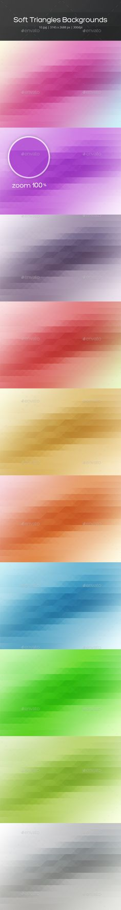 Soft Triangles Backgrounds - Backgrounds Graphics - 3745×2688px (300 dpi)